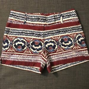 Loft 00 navy, blue, white & maroon floral shorts
